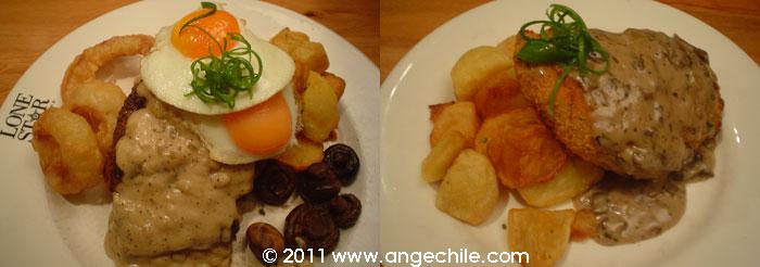 Two meals from Lone Star Restaurant Hamilton Nueva Zelandia
