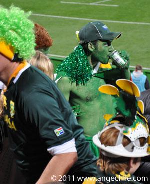 El hombre verde de Sudáfrica - Copa Mundial de Rugby 2011