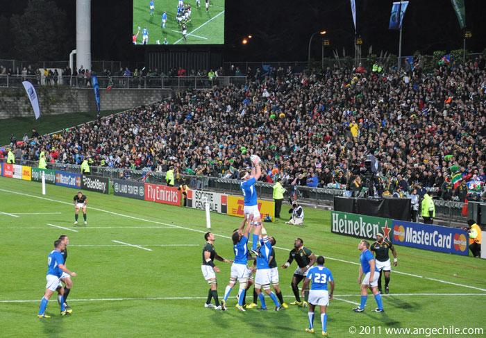 Sudáfrica vs Nambia en la copa mundial de Rugby 2011