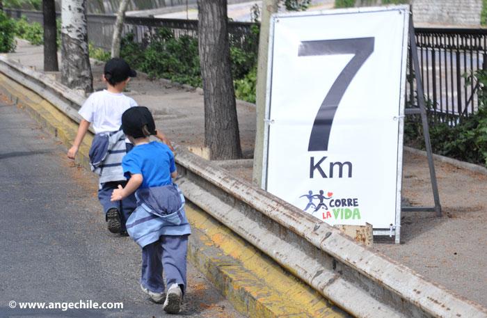 Llegando al km 7 de Corre la Vida