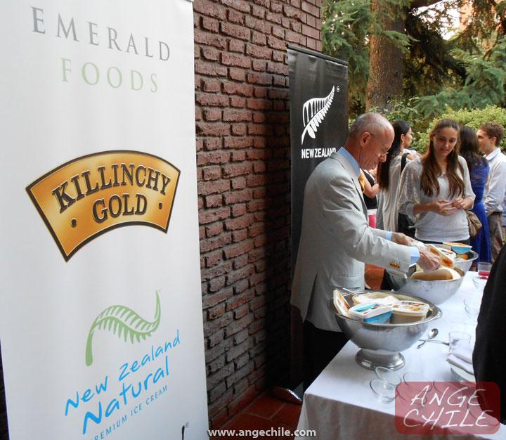 El lanzamiento de helado de Nueva Zelanda en Chile