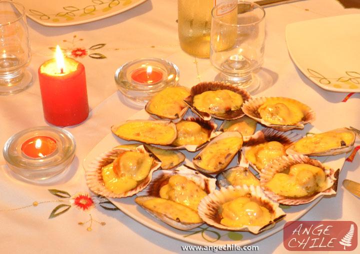 Machas y ostiones a la parmesana